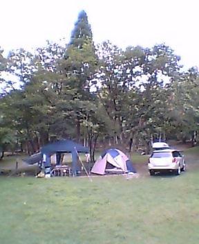 雨上がりのキャンプサイト