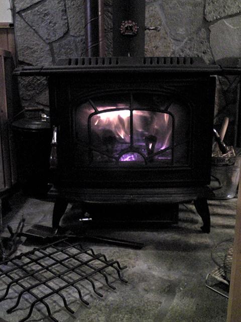 薪ストーブ初焚き